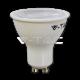 LED Крушка - 8W GU10 SMD Пластик Бяло С Лупа 38° 4500K