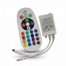 Дистанционно Управление RGB 24 бутона Кръгло